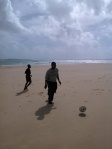 Soccer with kids on Tofo Beach