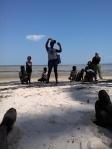 Kudzi giving a presentation on island Guidnane