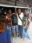 African Waiters in Tofu Beach